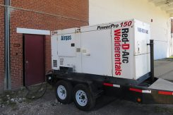 Flood remidiation efforts aided by power generator