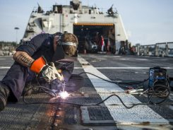 Navy ship welding