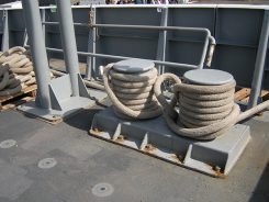 Naval ship's bollard