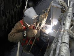Naval ship maintenance