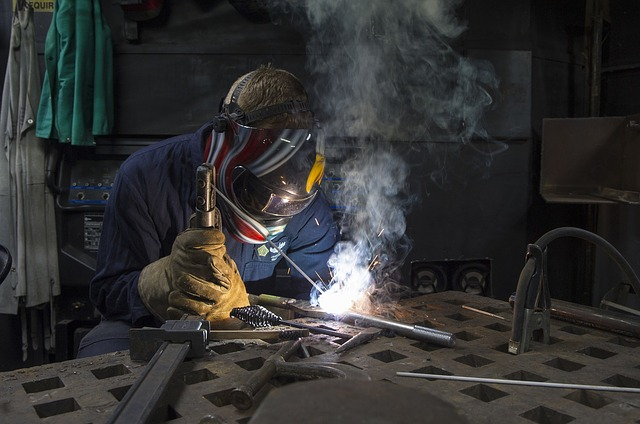 welder working on welding safety