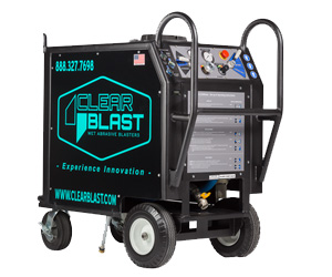 clearblast 150 wet media blaster rental unit