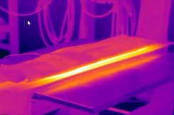 induction heating plate with miller proheat - infrared image