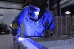 welding a steel frame