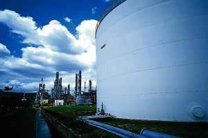 Refining crude oil in refineries